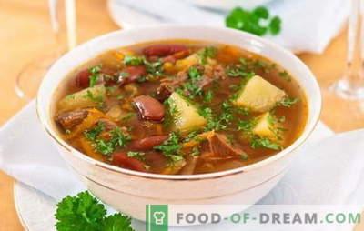 Sopa con frijoles y carne: ¿cómo cocinar una deliciosa sopa de frijoles? Recetas sencillas para sopa con frijoles y carne