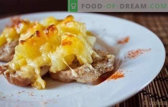 ¿Qué podría ser más delicioso que el filete de carne con piñas en el horno? Recetas de filetes con piñas en el horno (pollo, pescado, cerdo)
