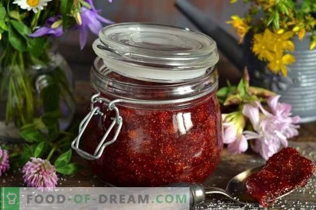 Mermelada de fresa salvaje con agar-agar