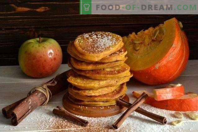 Panqueques con calabaza y manzanas