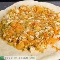 Pastel con pollo y verduras