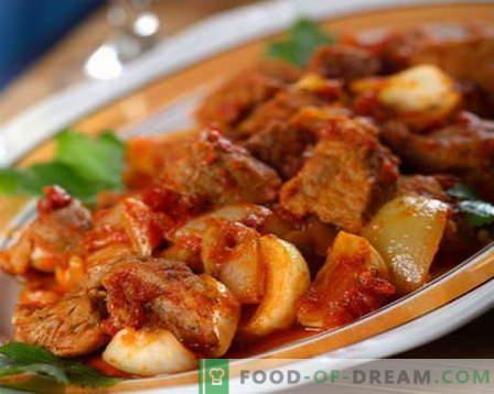 Estofado de ternera - las mejores recetas. Cómo cocinar correctamente y sabroso el estofado de ternera.