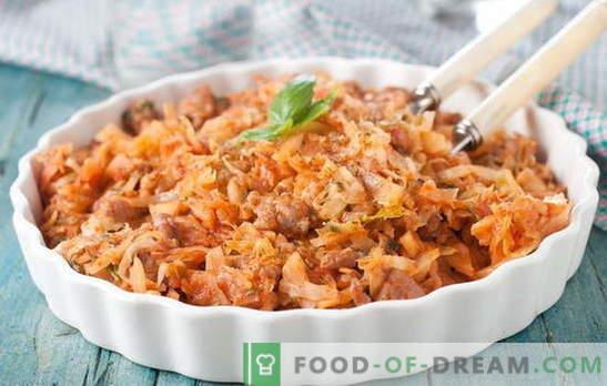 ¡El repollo guisado con carne y papas es un plato para todas las estaciones! Guiso de col con carne y papas de diferentes maneras: recetas