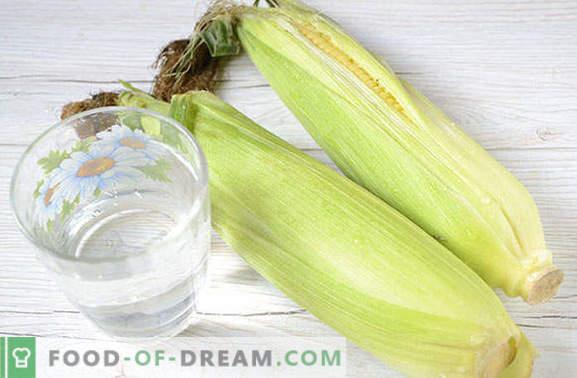 Cómo congelar el maíz en granos