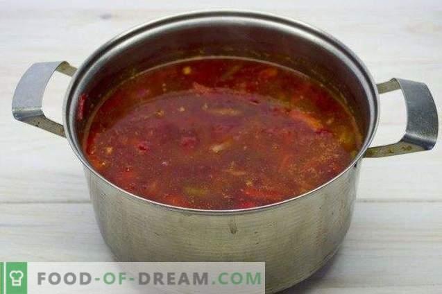 Borsch vegetariano - remolacha