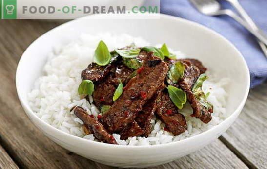 La carne tailandesa es exótica en tu cocina. Las mejores recetas de carne en tailandés: pollo, ternera, ternera, cerdo
