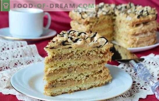 Air Snickers Cake - ¡Postre crujiente de merengue! Recetas para tartas aéreas de bizcochos, bizcochos y tortas de mantequilla dulce