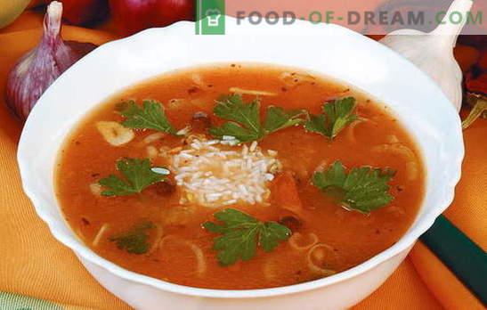 Recetas autorizadas y probadas de kharcho con arroz. ¿Qué ingredientes son adecuados para hacer delicioso kharcho con arroz?