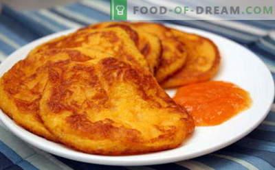 Buñuelos de calabaza son las mejores recetas. Cómo cocinar adecuadamente y deliciosamente tortitas de calabaza.
