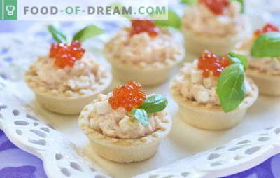 Cod liver tartlets are a convenient snack. Recipes for tartlets with cod liver: with vegetables, mushrooms, caviar