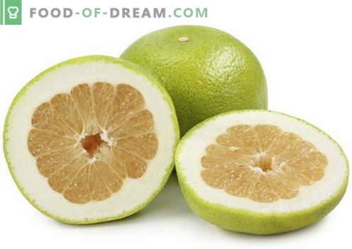 Pomelo - descripción, propiedades útiles, uso en la cocina. Recetas con pomelo.