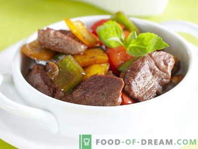 Carne con pimiento dulce (búlgaro) - las mejores recetas. Cocinar adecuadamente la carne con pimientos dulces.