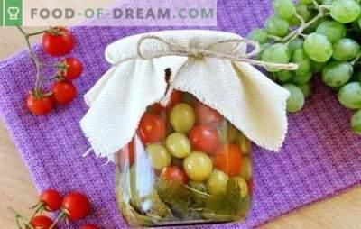 Tomates avec des raisins pour l'hiver - la recette originale pour un en-cas savoureux. Comment faire cuire des tomates avec des raisins pour l'hiver