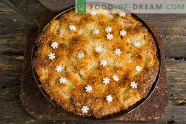 Delicioso pastel de manzana y coco