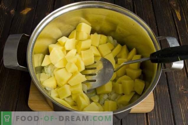 Sopa de crema de brócoli dietética