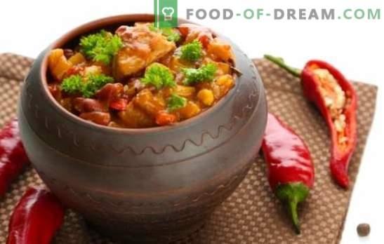 Chanahs en macetas - ¡visitaremos Georgia! Recetas con sabor a plato de chanakhi en ollas con pollo, carne, frijoles, berenjena