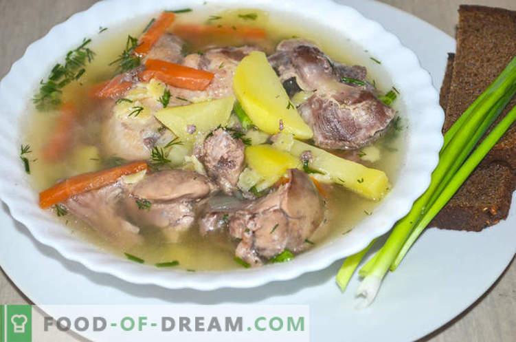 Sopa con menudos de pollo, o cómo cocinar la sopa Gleb Zheglov - receta