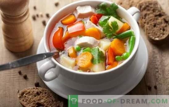 Sopa de pollo con verduras puede ser una obra maestra! Las mejores recetas de pollo con sopa de verduras con crema, queso, jengibre, maíz, calabaza