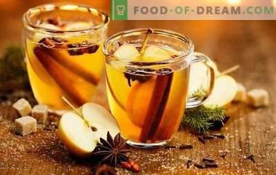Calentar el cuerpo y el alma - vino blanco caliente. Prepare un vino caliente con sabor a partir de vino blanco con bayas, cítricos, miel, manzanas