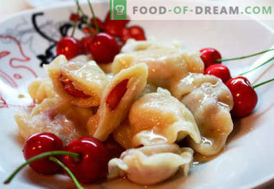 Dumplings with cherries - the best recipes. How to properly and tasty cook dumplings with cherries at home.