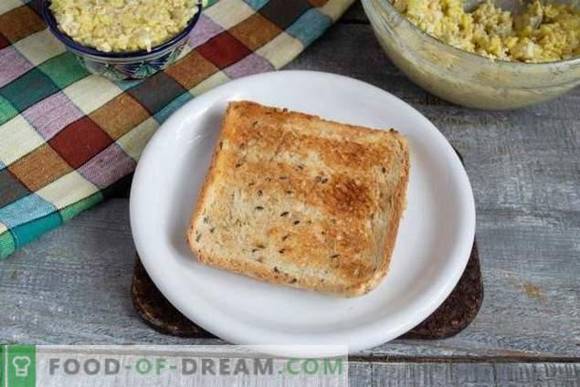Ensalada de hígado de bacalao sencilla y sabrosa con arroz dorado