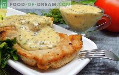 Bistecca di maiale al forno - un pezzo chic! Ricette le bistecche di maiale al forno con senape, salsa di soia, cipolle, patate e miele