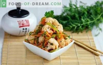 Bocadillos coreanos: ¡los más fragantes y deliciosos! Recetas para diferentes bocadillos coreanos de berenjenas, pollo, calabacín, zanahorias y tomates