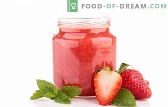 Aardbeienjam zonder te koken - dat is waar de zomerse smaak! Recepten van verschillende aardbeienjam zonder te koken voor een zoet leven