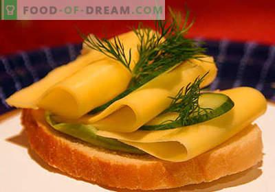 Siera sviestmaizes ir labākās receptes. Kā ātri un garšīgi pagatavot sviestmaizes ar sieru.
