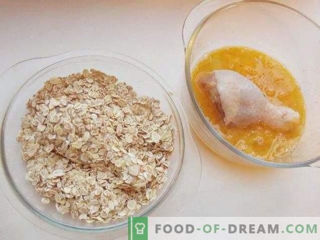 Muslos de pollo en rebanadas