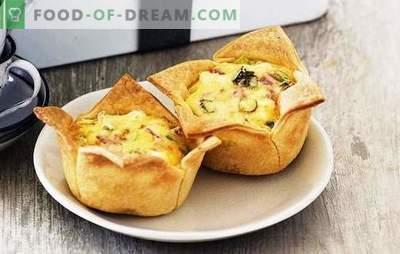 Schinkenpasteten - sättigend, lecker, einfach! Rezepte verschiedener Torten mit Schinken und Käse, Reis, Ei, Tomaten