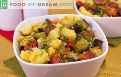 Coliflor guisada - simple, sabroso. Recetas de coliflor guisada con verduras, pollo, carne picada, champiñones y otros