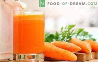 Jugo de zanahoria en casa: vitaminas sólidas! Recetas de jugo de zanahoria natural y cócteles con su participación