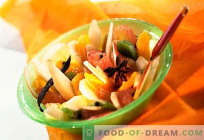 Ensaladas dulces - recetas probadas. Cómo cocinar ensaladas dulces.