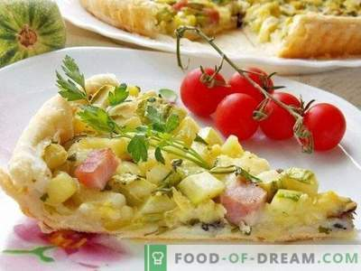 Tarte à la méditerranéenne avec courgettes, jambon et fromage