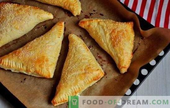 Soplos con requesón: dulce, salado, en el horno y en una sartén. Recetas para diferentes hojaldre hojaldre con requesón