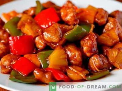 Cerdo en salsa agridulce - las mejores recetas. Cómo cocinar correctamente y sabroso el cerdo en salsa agridulce.