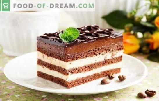 Pastel de ópera - un postre armonioso. Recetas para varios pasteles de ópera con grosellas, café, nueces, crema suiza
