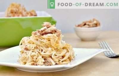 Pasta con champiñones en salsa cremosa, un plato aromático para todos los días. Una selección de las mejores recetas de pasta con champiñones en salsa cremosa