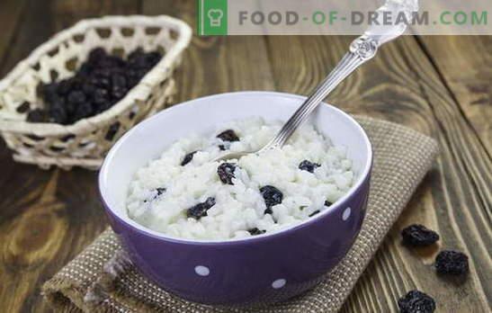 ¡El arroz con pasas no es solo kutya! Recetas para deliciosos platos de arroz con pasas: chuletas, cereales, guisos, pilaf y postres
