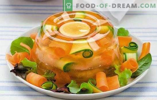Receta paso a paso con gelatina: decoración de cualquier mesa. Gelatina (receta paso a paso) de ternera o pescado - detalle para principiantes