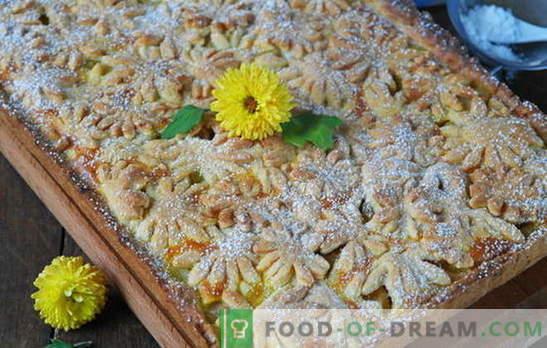 Un postre de ganar-ganar es una tarta de manzana arenosa. Variantes de masa y rellenos para tortas de arena con manzanas