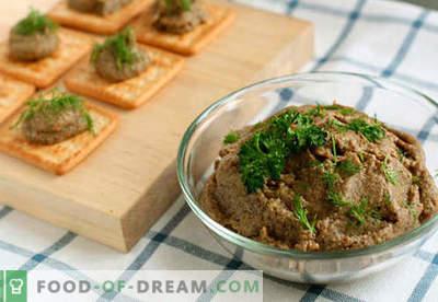 Pâté de foie de boeuf - les meilleures recettes. Comment cuire correctement et savoureux pâté de foie de boeuf.