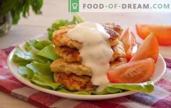 Buñuelos de pollo con mayonesa, ¡más rápido que los pasteles! Vanguardia culinaria del tercer milenio: receta para los buñuelos de pollo con mayonesa