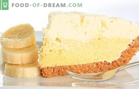 La crema de pastel de plátano es un manjar inigualable. Cómo preparar fácil y rápidamente el pastel de crema de plátano original