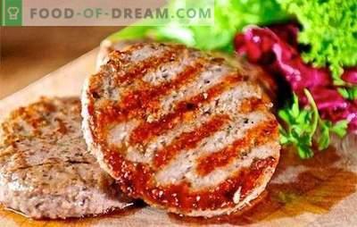 Chuletas de hamburguesa: ¡el mundo de la comida rápida casera! Las recetas son chuletas de hamburguesas sanas, sabrosas y seguras