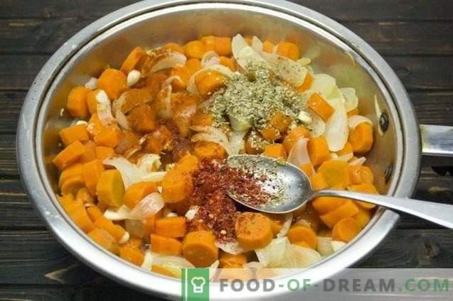 Zanahorias marinadas con cebolla y orégano