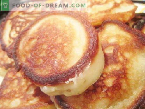 Buñuelos en levadura son las mejores recetas. Cómo cocinar correctamente y sabroso los panqueques con levadura.