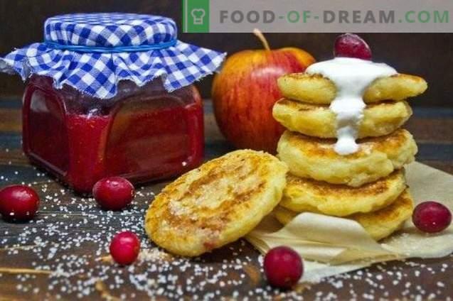 Tarta de queso de manzana rellena de arándano y naranja