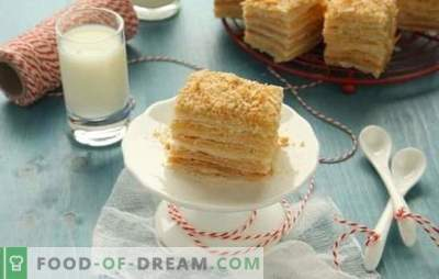 Napoleon cake made from ready-made puff pastry is a dessert without hassle. Recipes cake